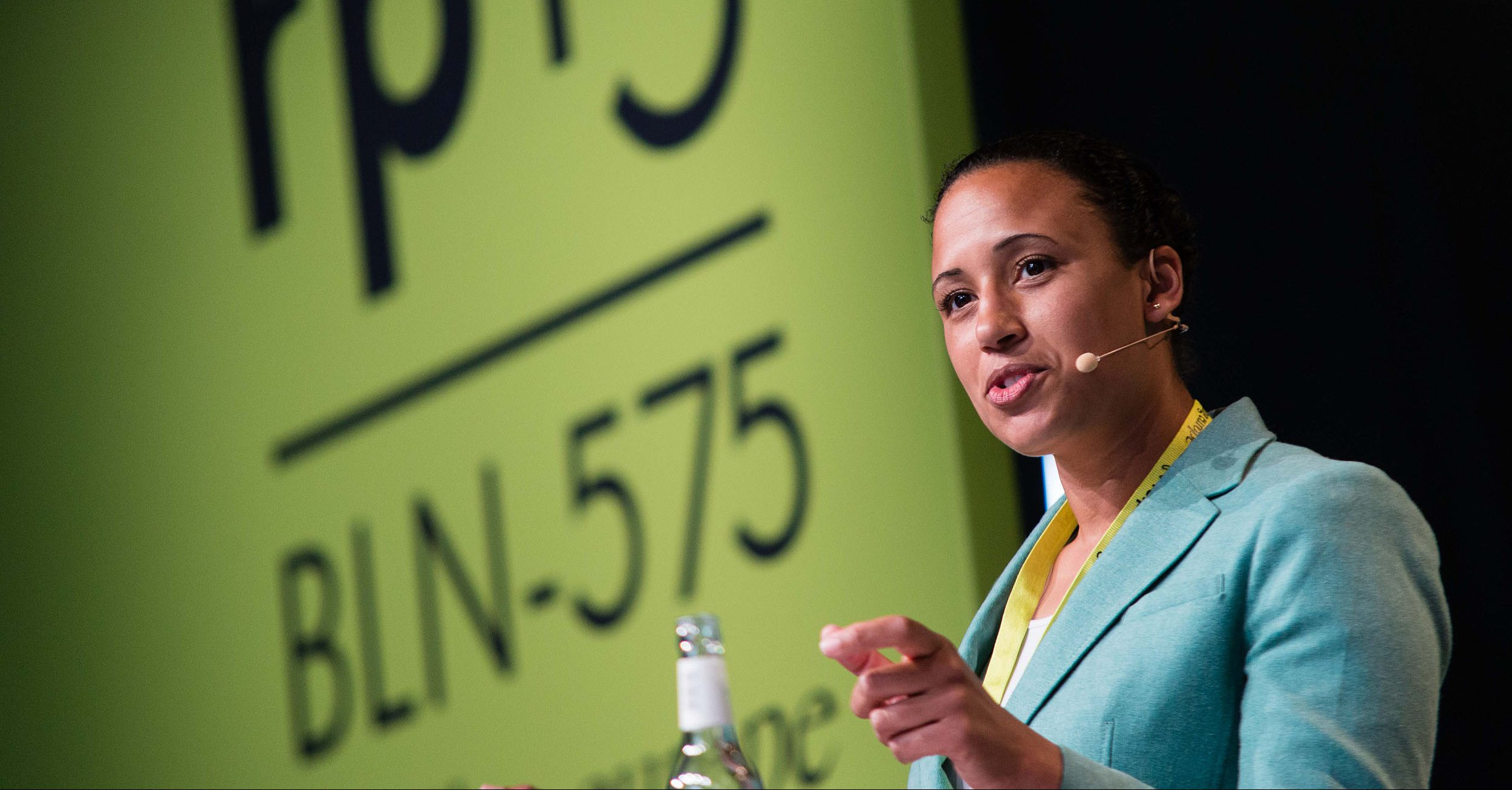 Nani Jansen speaking at re:publica 2015. Copyright: re:publica/Gregor Fischer